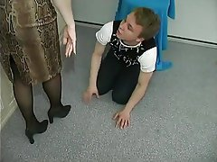 Handjob, Mature, Old and Young, Stockings