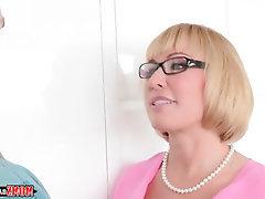 BBW, Blowjob, Cumshot, Glasses, Lesbian