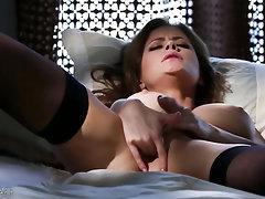 Babe, Big Tits, Ebony, Stockings